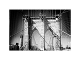 Brooklyn Bridge, Manhattan, New York, White Frame, Full Size Photography Photographic Print by Philippe Hugonnard