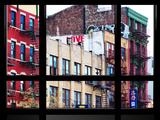 Window View, Special Series, Building China Town, Manhattan, New York City, United States Photographic Print by Philippe Hugonnard