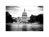 Capitol Reflecting Pool and the Capitol Building, US Congress, Washington D.C, White Frame Photographic Print by Philippe Hugonnard