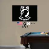 POW MIA Awareness Logo Wall Decal - Duvar Çıkartması