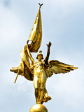 Gold Statue Atop World War I Memorial, Washington D.C, District of Columbia Photographic Print by Philippe Hugonnard
