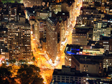 Lifestyle Instant, Flatiron Building by Nigth, Manhattan, New York City, United States Photographic Print by Philippe Hugonnard