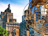 Columbus Circle, Globe Sculpture, 59 Street and Columbus Ave, Essex House Building, New York City Photographic Print by Philippe Hugonnard
