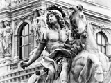 Museum of the Louvre, Statue Equestrian of Louis XIV, Paris, France Photographic Print by Philippe Hugonnard