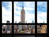 Window View, Special Series, Urban Skyline, Empire State Building, Midtown Manhattan, NYC Photographic Print by Philippe Hugonnard