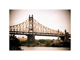 Ed Koch Queensboro Bridge (Queensbridge), Long Island City, New York, Vintage, White Frame Photographic Print by Philippe Hugonnard
