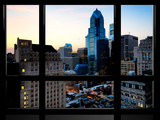 Window View, Special Series, Skyscrapers View at Nightfall, Philadelphia, Pennsylvania, USA Photographic Print by Philippe Hugonnard