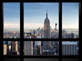 Window View, Special Series, Empire State Building, Manhattan, New York, United States Lámina fotográfica por Philippe Hugonnard