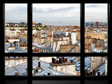 Window View, Special Series, Black and White Photography, Rooftops View, Pompidou Center, Paris Photographic Print by Philippe Hugonnard
