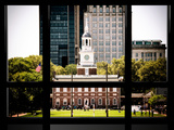 Window View, Independence Hall and Pennsylvania State House Buildings Views, Philadelphia, USA Photographic Print by Philippe Hugonnard