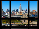 Window View, Special Series, Downtown Manhattan, Empire State Building, New York City, US Photographic Print by Philippe Hugonnard