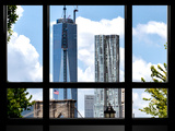 Window View, Special Series, the One World Trade Center and Brooklyn Bridge Views, Manhattan, NYC Photographic Print by Philippe Hugonnard