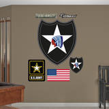 US Army 2nd Infantry Insignia Wall Decal Adhésif mural