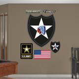 US Army 2nd Infantry Insignia Wall Decal Kalkomania ścienna