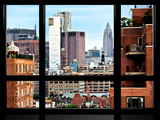 Window View, Chelsea with Empire State Building View, Meatpacking District, Manhattan, NYC Photographic Print by Philippe Hugonnard