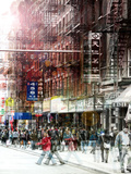 Urban Vibrations Series, Fine Art, Urban Style, Chinatown, New York City, United States Photographic Print by Philippe Hugonnard