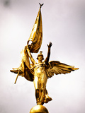 Gold Statue Atop World War I Memorial, Washington D.C, District of Columbia, Peace Colors Photographic Print by Philippe Hugonnard