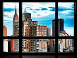 Window View, Empire State Building and the Newyorker Hotel Views, Midtown Manhattan, New York Photographic Print by Philippe Hugonnard