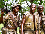 """The Three Soldiers"" Bronze by Frederik Hart at the Vietnam Memorial, Washington D.C Photographic Print by Philippe Hugonnard"