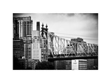 Ed Koch Queensboro Bridge, Roosevelt Island Tram Station, Manhattan, New York, White Frame Photographic Print by Philippe Hugonnard
