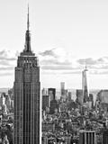 Sunset Landscape of the Empire State Building and One World Trade Center, Manhattan, NYC Fotografie-Druck von Philippe Hugonnard