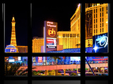 Window View, Special Series, Strip, Resort Casinos Hotels, Las Vegas, Nevada, United States Photographic Print by Philippe Hugonnard
