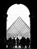 Grande Pyramide at the Louvre Museum, Paris, France Photographic Print by Philippe Hugonnard