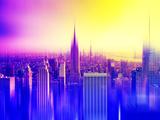 Urban Stretch Series, Fine Art, Empire State Building, Sunset, Manhattan, New York, United States Photographic Print by Philippe Hugonnard