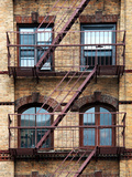 Fire Escape, Stairway on Manhattan Building, New York, United States Photographic Print by Philippe Hugonnard