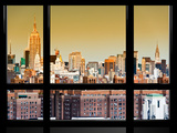 Window View, Special Series, Downtown Manhattan, Empire State Building, New York, United States Photographic Print by Philippe Hugonnard