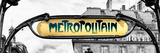 Art Deco Metropolitain Sign, Metro, Subway, the Louvre Station, Paris, France, Europe Photographic Print by Philippe Hugonnard