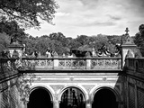 Lifestyle Instant, Central Park, Black and White Photography Vintage, Manhattan, United States Photographic Print by Philippe Hugonnard