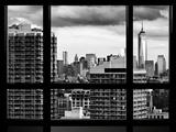 Window View, Manhattan Skyline with One World Trade Center (1WTC), Midtown Manhattan, New York Photographic Print by Philippe Hugonnard