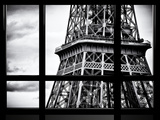 Window View, Special Series, Close View Detail of the Eiffel Tower View, Paris Fotografisk tryk af Philippe Hugonnard