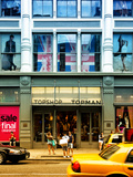 Urban Scene, Yellow Taxi, Topshop Front, Broadway, Manhattan, New York Photographic Print by Philippe Hugonnard
