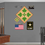 US Army 4th Infantry Insignia Wall Decal Kalkomania ścienna