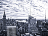 Lifestyle Instant, Skyline, Empire State Building, Manhattan, Sunset, New York City, United States Photographic Print by Philippe Hugonnard