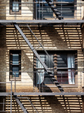Fire Escape, Stairway on Manhattan Building, New York City, United States Photographic Print by Philippe Hugonnard