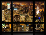 Window View, Special Series, Landscape by Night, Manhattan, New York City, United States Photographic Print by Philippe Hugonnard