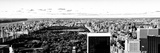 Landscape Panoramic Sunset, Central Park, New York, United States, Black and White Photography Photographic Print by Philippe Hugonnard