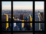 Window View, Special Series, Landscape Sunset, Manhattan, New York City, United States Photographic Print by Philippe Hugonnard