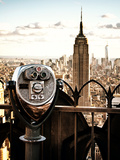 Telescope on the Obervatoire Deck, Top on the Rock at Rockefeller Center, Manhattan, New York Photographie par Philippe Hugonnard