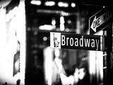 Urban Sign, Broadway Sign at Times Square by Night, Manhattan, New York, Classic Photographic Print by Philippe Hugonnard