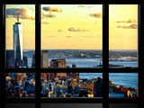Window View, One World Trade Center (1WTC) at Sunset, Midtown Manhattan, New York Reproduction photographique par Philippe Hugonnard