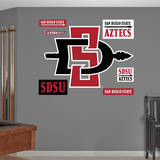 San Diego State Aztecs Logo Wall Decal Wall Decal