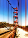 Urban Vibrations Series, Fine Art, Golden Gate Bridge, San Francisco, United States Photographic Print by Philippe Hugonnard