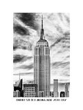 Empire State Building, White Frame, Full Size Photography Name, Manhattan, New York -Us Photographic Print by Philippe Hugonnard