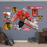 NHL Chicago Blackhawks Corey Crawford Wall Decal Adhésif mural