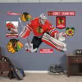 NHL Chicago Blackhawks Corey Crawford Wall Decal Kalkomania ścienna