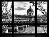 Window View, Special Series, Pont Des Arts and Institut De France Views, Seine River, Paris Photographic Print by Philippe Hugonnard